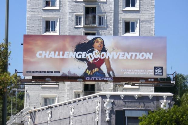 Wonder Woman Challenged Convention DC Universe billboard