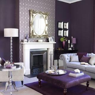 sala clásica color morado