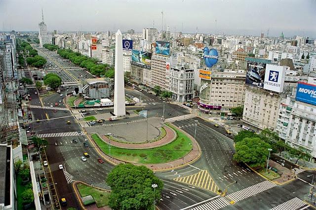 Image result for World's widest street: 9 de Julio Avenue, Buenos Aires, Argentina