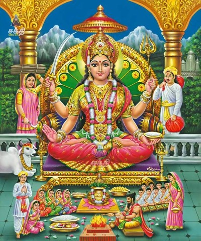 Hindu Goddess santoshi mata wallpaper