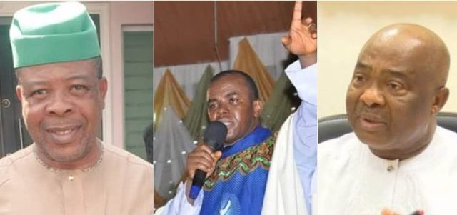Father Mbaka's Prophecy: Nigerians react as Court sacks Ihedioha, declares Uzodinma Governor