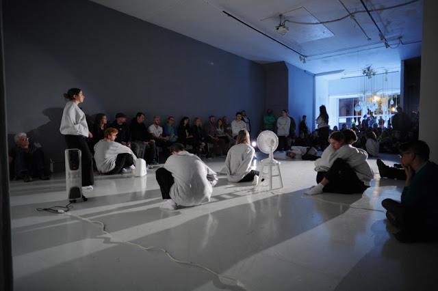 Hope Esser et al in performance, March 25, 2017, Defibrillator Gallery