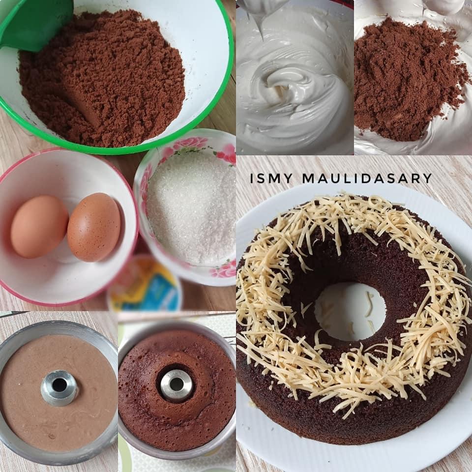 Membuat Bolu Kukus Biskuit Coklat