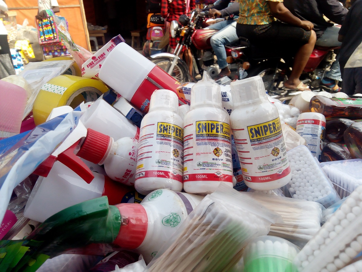 NAFDAC bans the sale of Sniper Insecticides in open market and supermarkets.