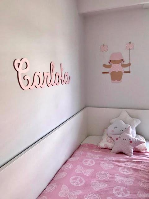 Decoración infantil personalizada habitación de niña Carlota