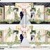 Mẫu Phông cưới hiện đại hoa lá dễ thương CDR12 | VTPcorel |