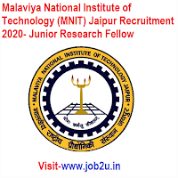 Malaviya National Institute of Technology (MNIT) Jaipur Recruitment 2020, Junior Research Fellow