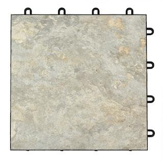 Greatmats tileflex vinyl raised plastic basement floor