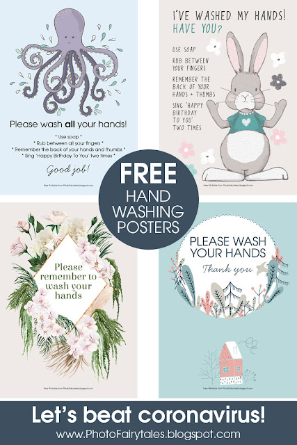 Free Hand Washing Poster Printable - let's beat coronavirus!
