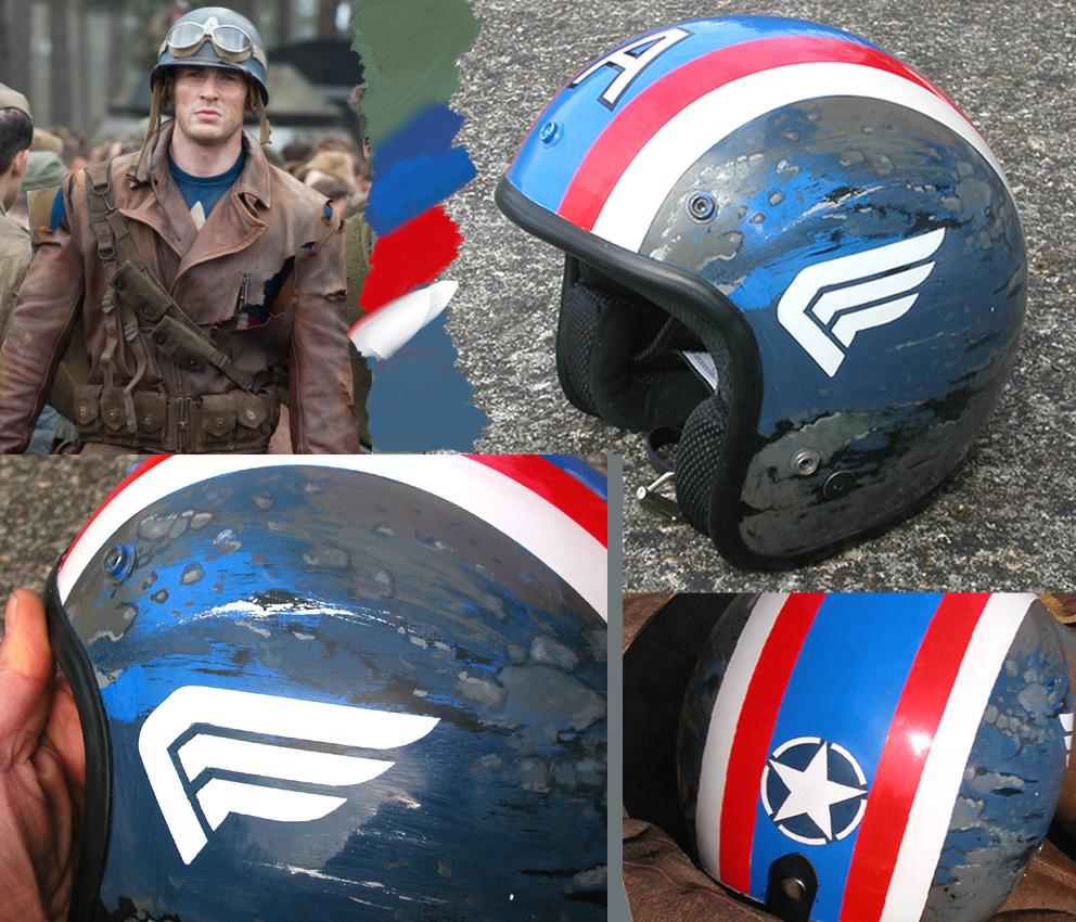 captain america le casque moto a vendre 90 euros sharkit moto. Black Bedroom Furniture Sets. Home Design Ideas