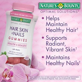 Kẹo Dẻo Đẹp Da, Tóc, Móng - Nature's Bounty Hair, Skin & Nails Gummies 230 viên - TPBS005