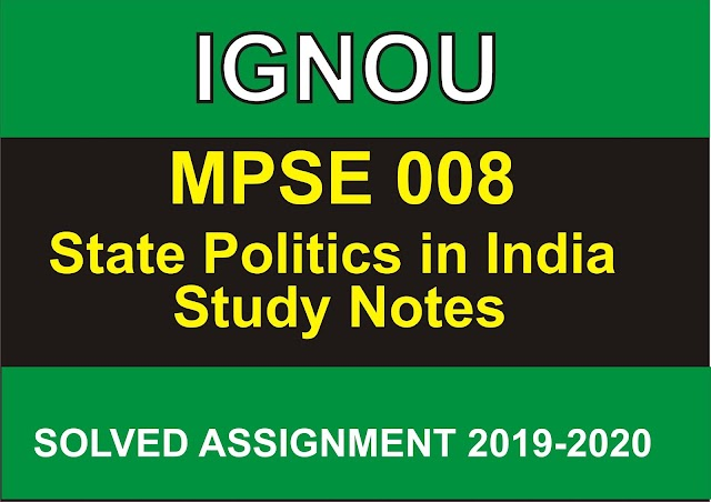 MPSE 008 Study Notes