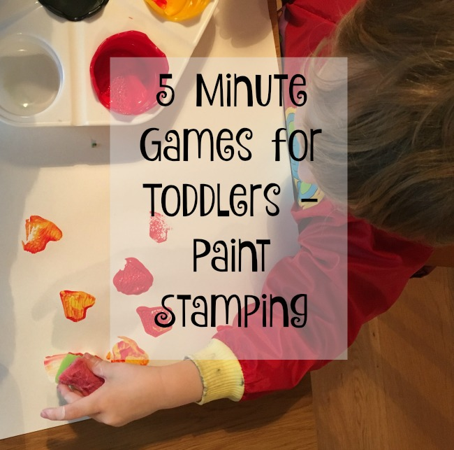 5 minute games for toddlers paint stamping