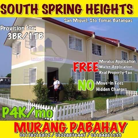 Rent To Own House And Lot In Sto Tomas Batangas South