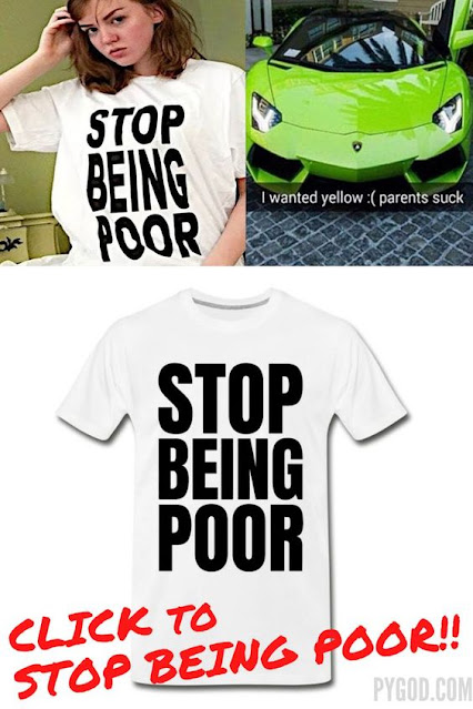 Stop Being Poor T-Shirt to financial freedom.  PYGear.com