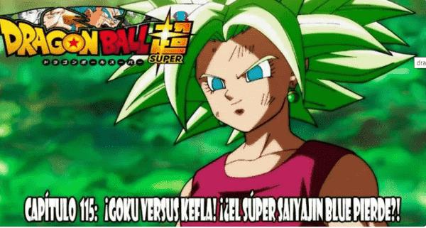 Ver capitulo 115 online, Son Goku se muestra emocionado porque gracias a Kale y Caulifla fusionadas aparece la nueva super guerrera.