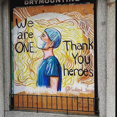 appreciate corona fighters doctors, police, health workers, nurse, social workers