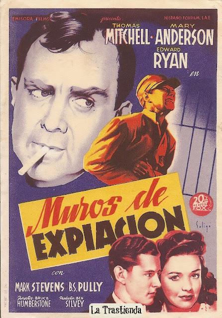 Programa de Cine - Muros de Expiación - Thomas Mitchell - Mary Anderson