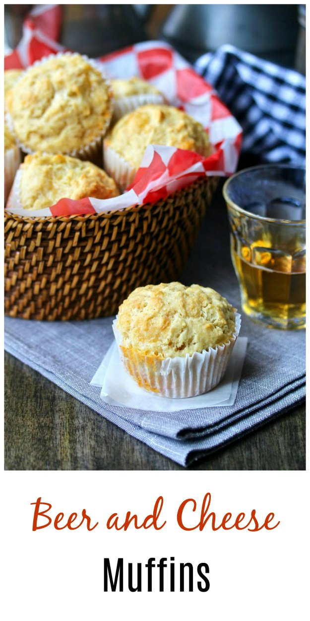 These beer and cheese muffins are a cheesy and savory treat. They are filled with Fontina cheese, but you can use any good melty cheese you like, such as mozzarella, cheddar, or gruyère.