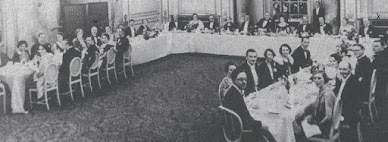 A picture taken at a 1932 meeting of the Detection Club, when G K Chesterton was president