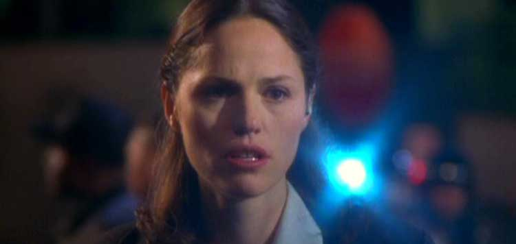 Jorja Fox in The West Wing season one finale What Kind of Day Has It Been.