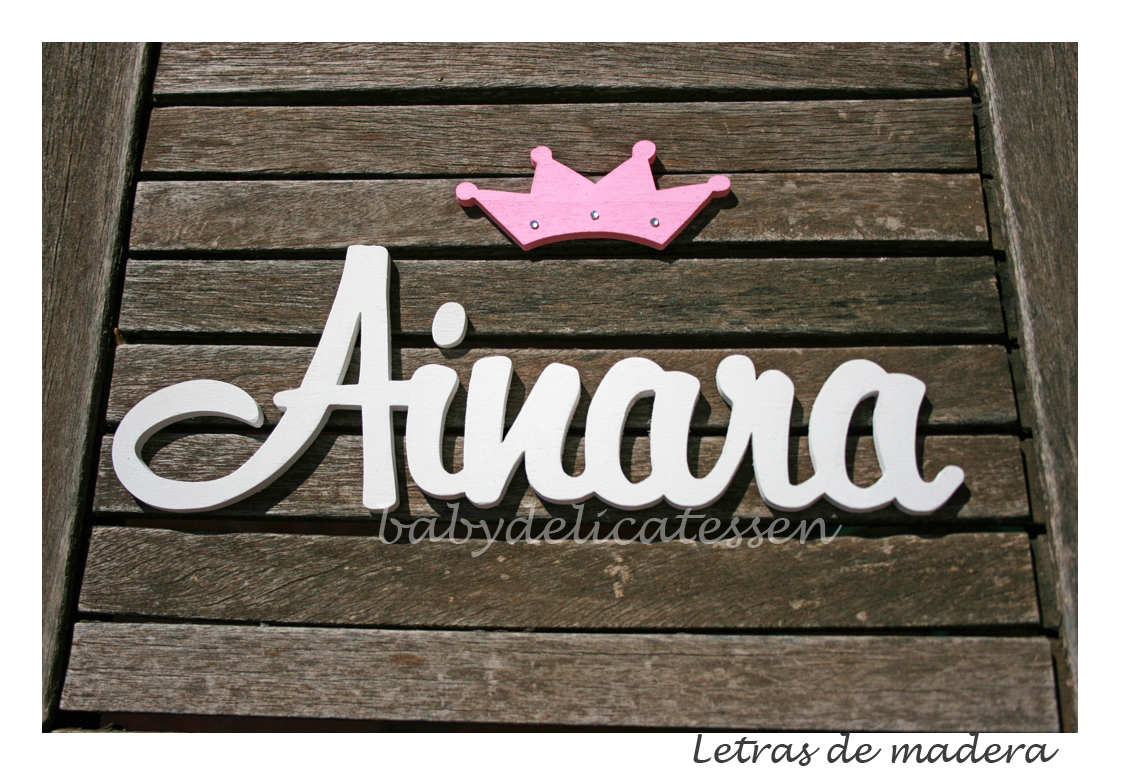 Letras de madera Ainara