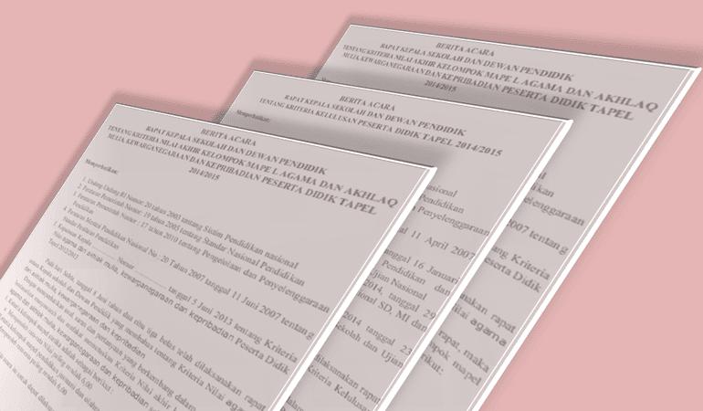 Kumpulan Contoh Berita Acara Lembaga Pendidikan Lengkap Format Word