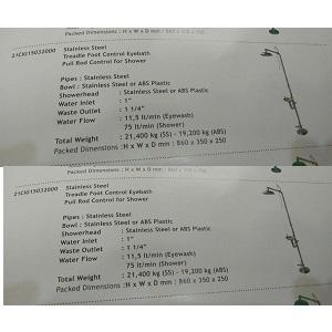 Jual Eyewash Wash Stailess Steel CIG 21CIG15032000 di Jakarta