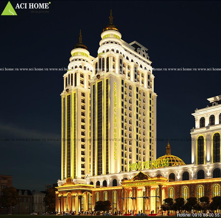 Trung tâm thương mại và khách sạn cổ điển Pháp 5 sao tại Móng Cái