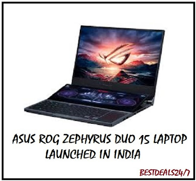 Asus ROG Zephyrus Duo 15 Laptop Launched in India