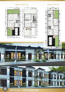 Floor Plan Jual Rumah Harga Perdana, Pasti Untung, Cempaka Residence Di Jl. Cempaka Gaperta Ujung Medan