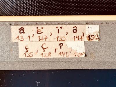 PC-Monitor von 1987: Ç, ç, â etc.