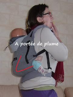 porte-bébé préformé Hoodiecarrier Jpmbb portage assise profonde physiologique