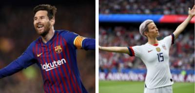 Lionel Messi  e Megan Rapinoe são  eleitos os  melhores  do  mundo da Fifa