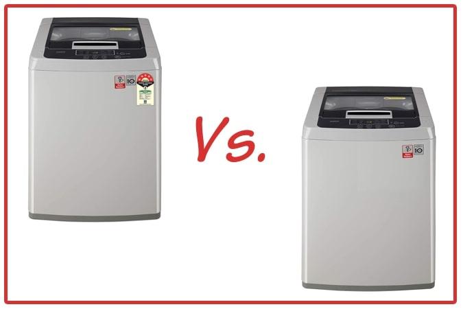 LG T70SKSF1Z (left) and LG T7585NDDLGA (right) Washing Machine Comparison.