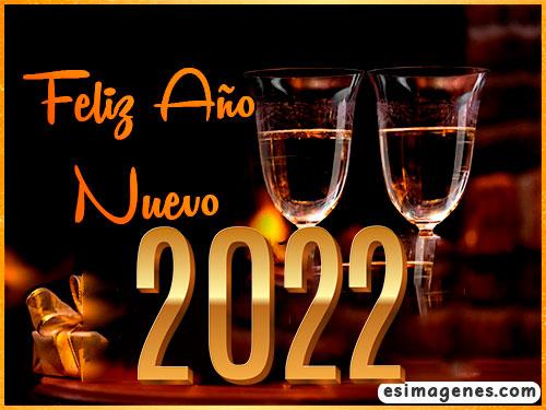 tarjeta feliz ano nuevo 2022