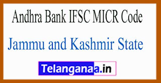 Andhra Bank IFSC MICR Code Jammu and Kashmir State