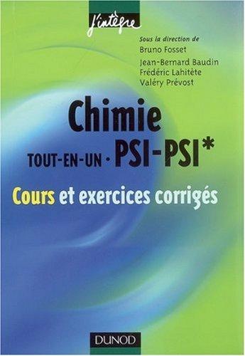 [PDF] Télécharger Livre Gratuit: Chimie tout-en-un PSI-PSI* : Cours et exercices corrigés