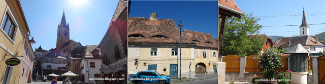 Viaje a Rumanía: catedral evangélica y casas de Sibiu, iglesia de Sibiel
