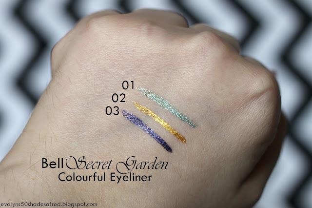 Bell Secret Garden Colorful Eyeliner 01 02 03