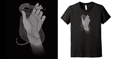 Ghost Snake T-Shirt by Kevin Tong