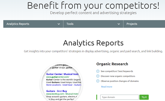 SEMrush, Organic Research, Feature
