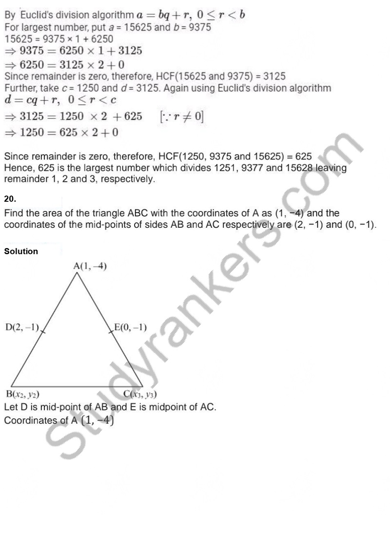 Previous Year Question Paper for CBSE Class 10 Maths 2019 Part 17