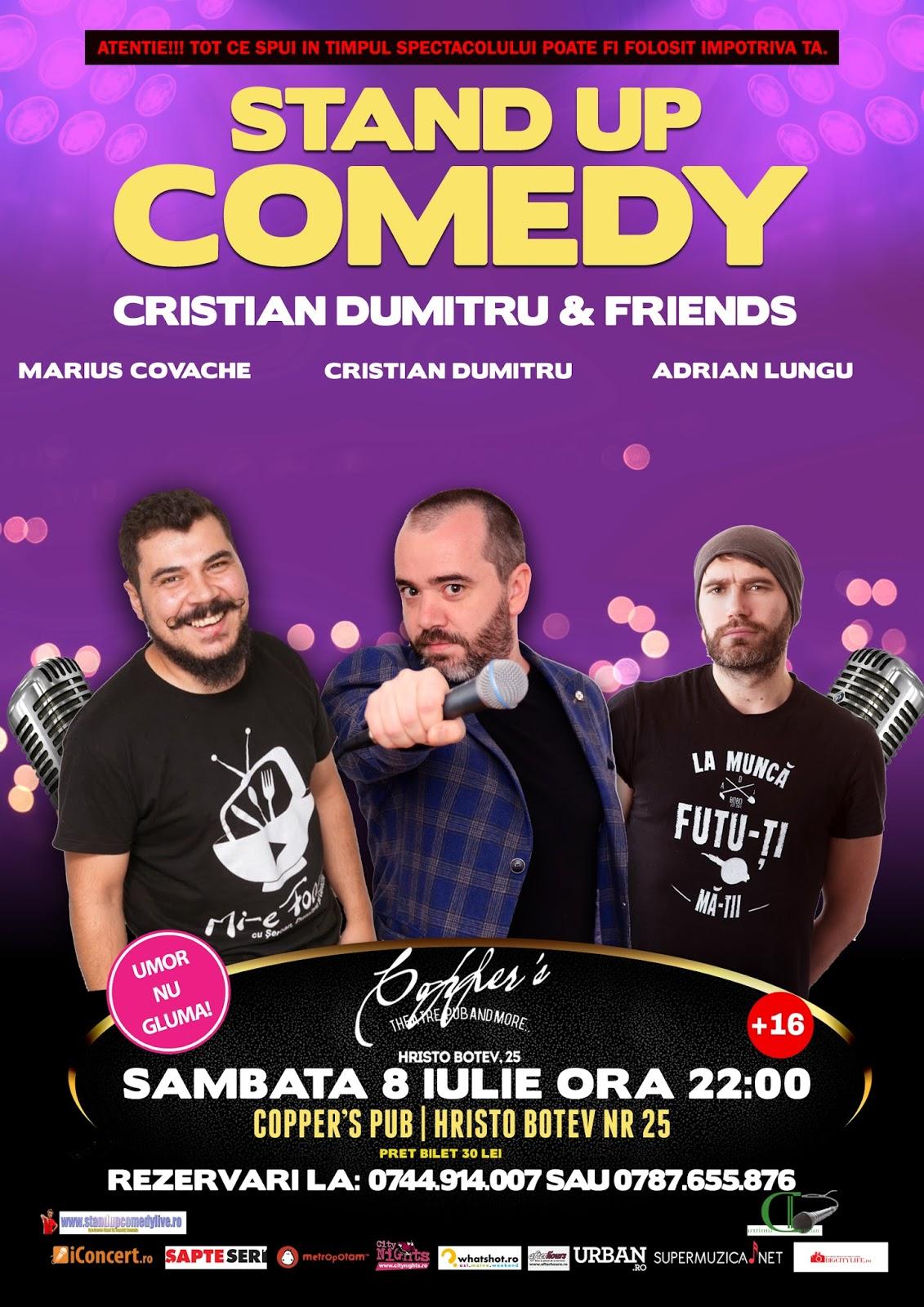 Stand-Up Comedy Sambata 8 Iulie Bucuresti