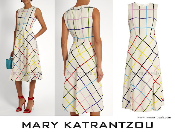 Countess Sophie wore Osmond Sleeveless Checked Crepe dress from Mary Katrantzou