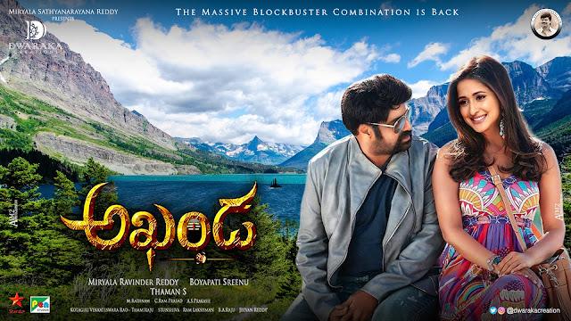 Balakrishna Pragya Jaiswal romantic akhanda movie posters _ 2