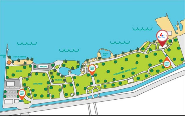 Ancol-Beach-City-Mall-map