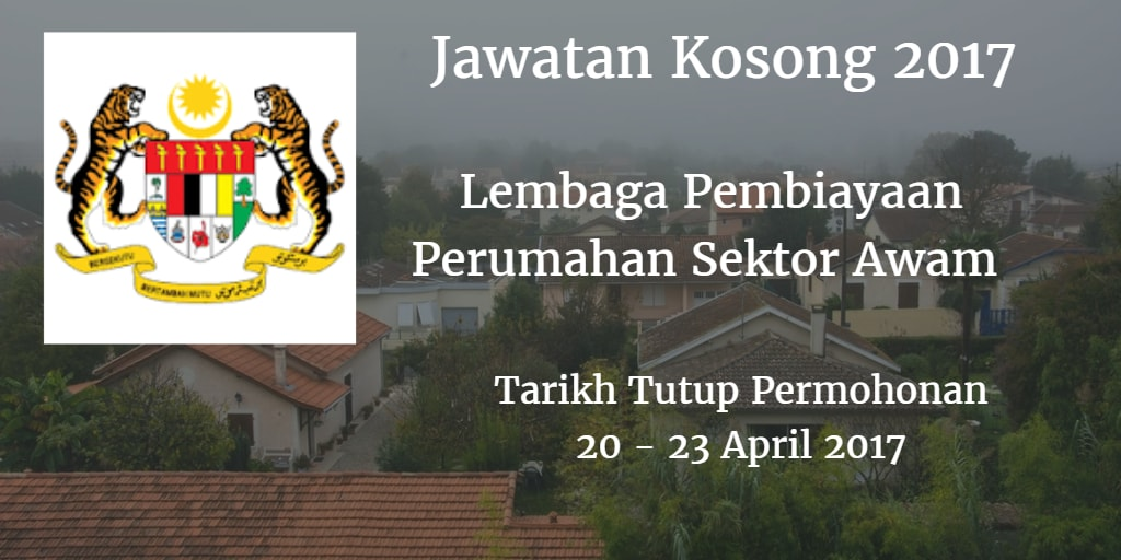 Jawatan Kosong LPPSA 20 - 23 April 2017