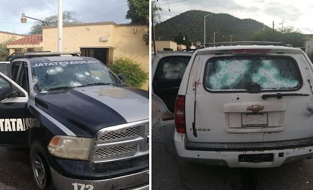 Video: Pasajero a bordo de camión capta el momento por la ventana de enfrentamiento entre Estatales contra Sicarios en carretera de Pitiquito, Sonora,GN y Militares llegaron al apoyo