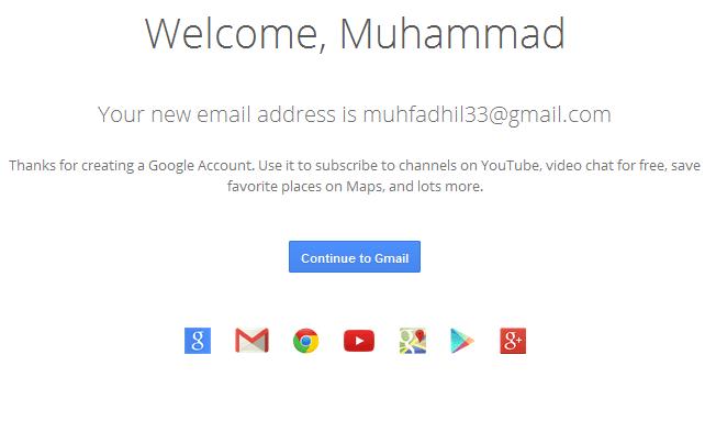 email baru